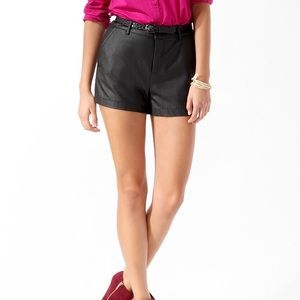 F21 Faux Leather Essentials Short
